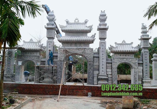 Địa chỉ làm cổng nhà thờ họ, cổng đền chùa đẹp uy tín