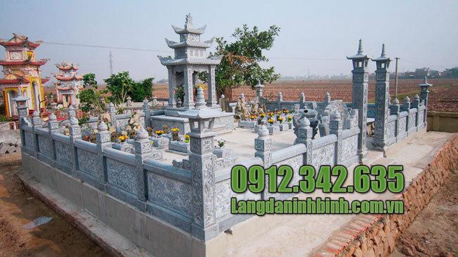 Các mẫu khuôn viên khu nghĩa trang gia đình, dòng họ bằng đá đẹp