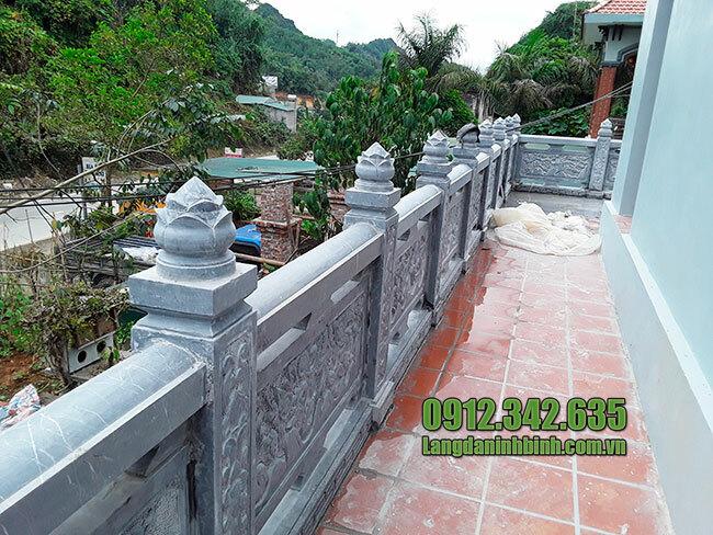 Các mẫu lan can đá nhà thờ họ, đình chùa, khu lăng mộ đẹp