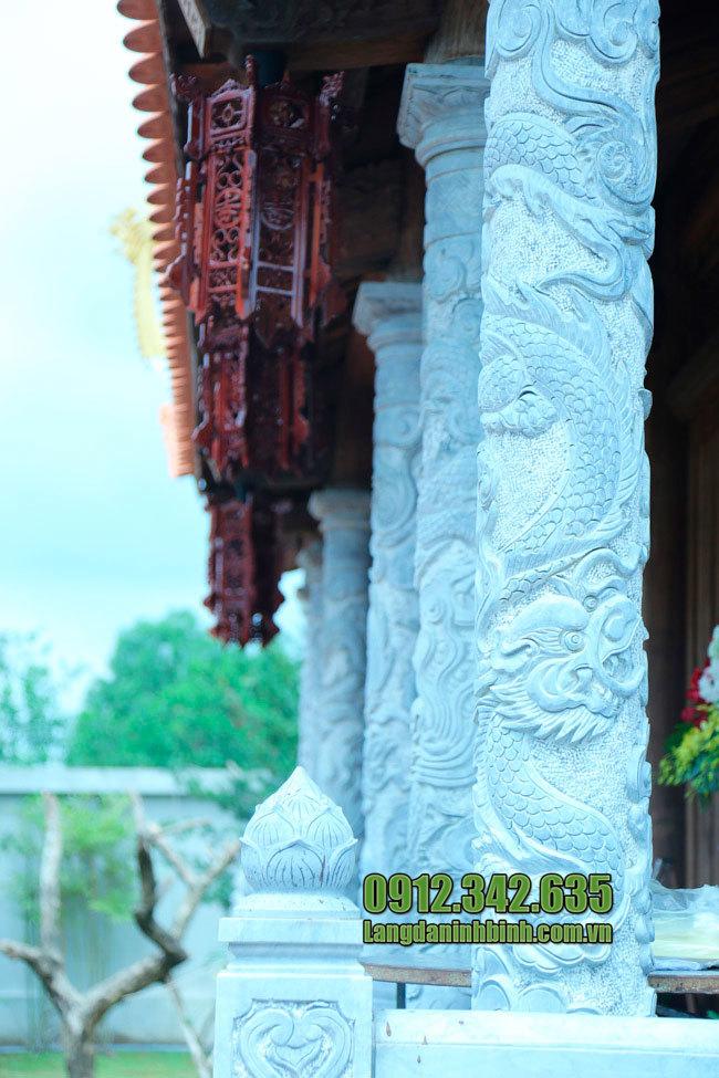 Cột đá chạm rồng - Mẫu cột đá chạm khắc hình rồng đẹp