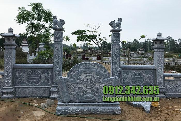Cuốn thư đá khu mộ