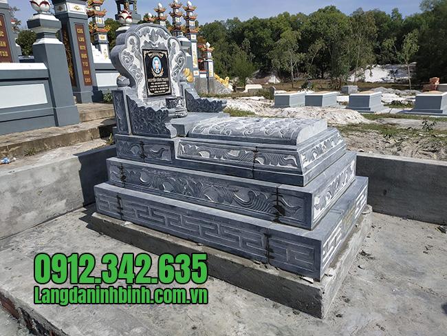 Giá mộ đá tam sơn chuẩn kích thước mộ đá xanh