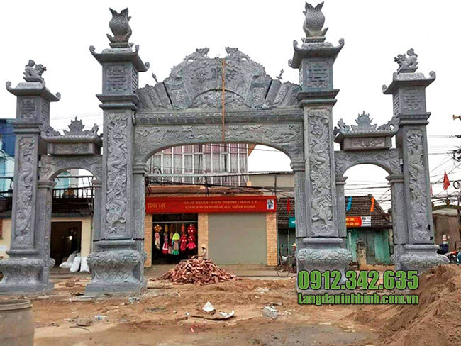 Làm cổng làng bằng đá