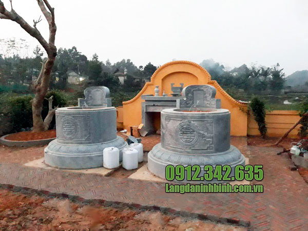 Lăng mộ đá tròn đẹp