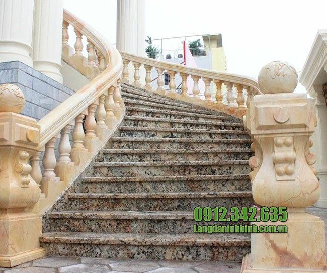 Lan can cầu thang bằng đá