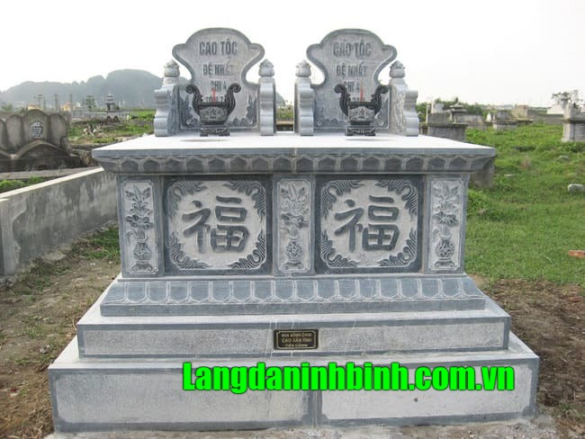 Mẫu mộ đá đôi