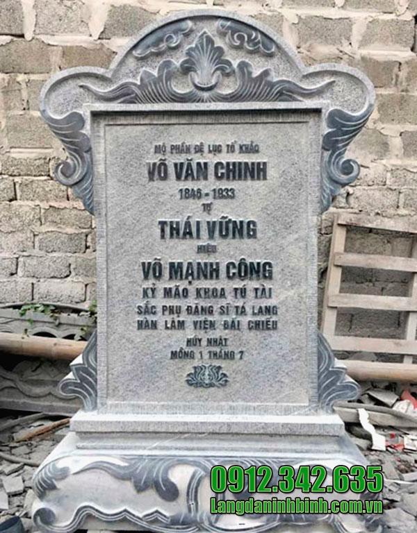 Mẫu bia mộ bằng đá