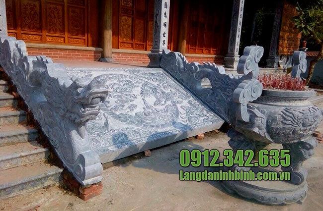 Mẫu chiếu rồng bằng đá nhà thờ họ, đình chùa đẹp