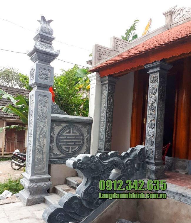 Mẫu cột đồng trụ nhà thờ họ từ đường bằng đá đẹp