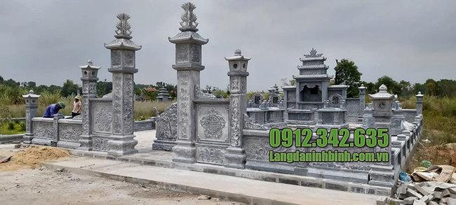 Mẫu khu mộ đá gia đình dòng họ đẹp