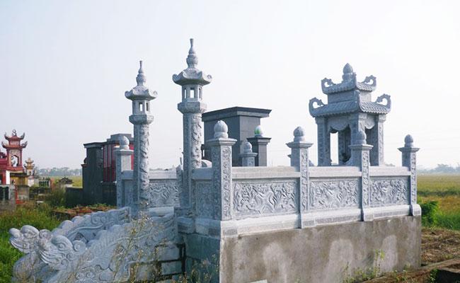 Mẫu khu nhà mồ bằng đá đẹp hiện đại ở bến tre