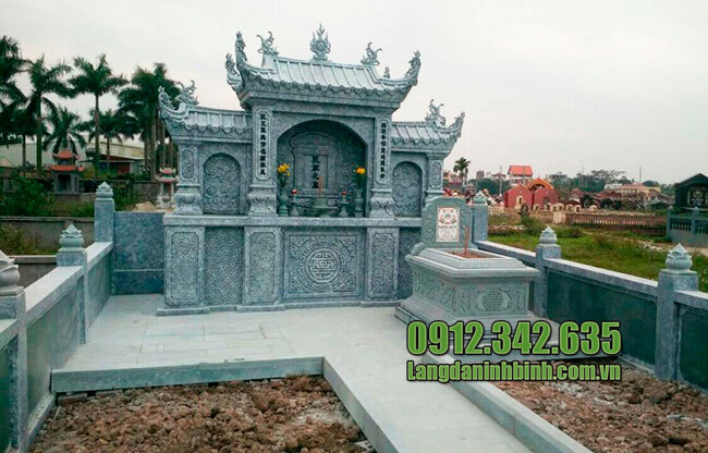 Mẫu khu nhà mồ mả bằng đá đẹp hợp phong thủy ở Long An