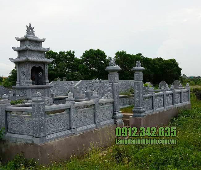Mẫu khu nhà mồ mả bằng đá đẹp ở Hậu Giang