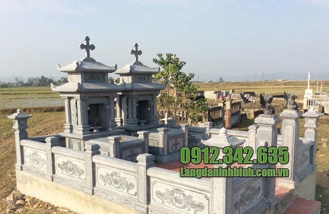 Mẫu lăng mộ đá công giáo ninh bình
