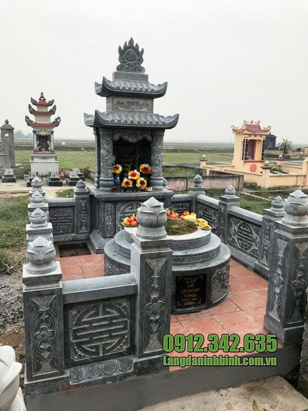 Mẫu lăng mộ đá hai mái ninh bình
