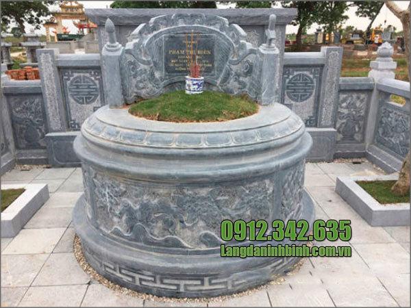 Mẫu lăng mộ đá tròn Ninh Bình
