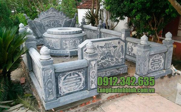 Mẫu lăng mộ đá tròn Ninh Vân