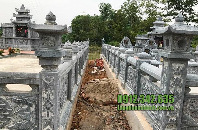 Mẫu lan can bằng đá khu lăng mộ