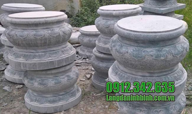 Tảng đá kê chân cột gỗ đẹp
