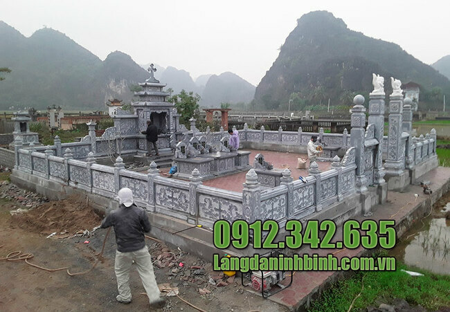Thiết kế khu lăng mộ đá đẹp ninh bình