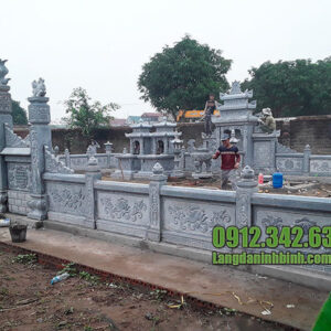 Mẫu khu lăng mộ đá gia đình, dòng họ đẹp chuẩn phong thủy
