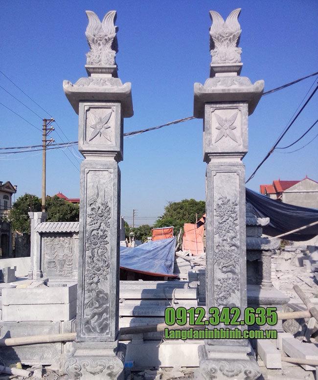 Trụ biểu đình chùa - Mẫu trụ biểu đình chùa bằng đá đẹp