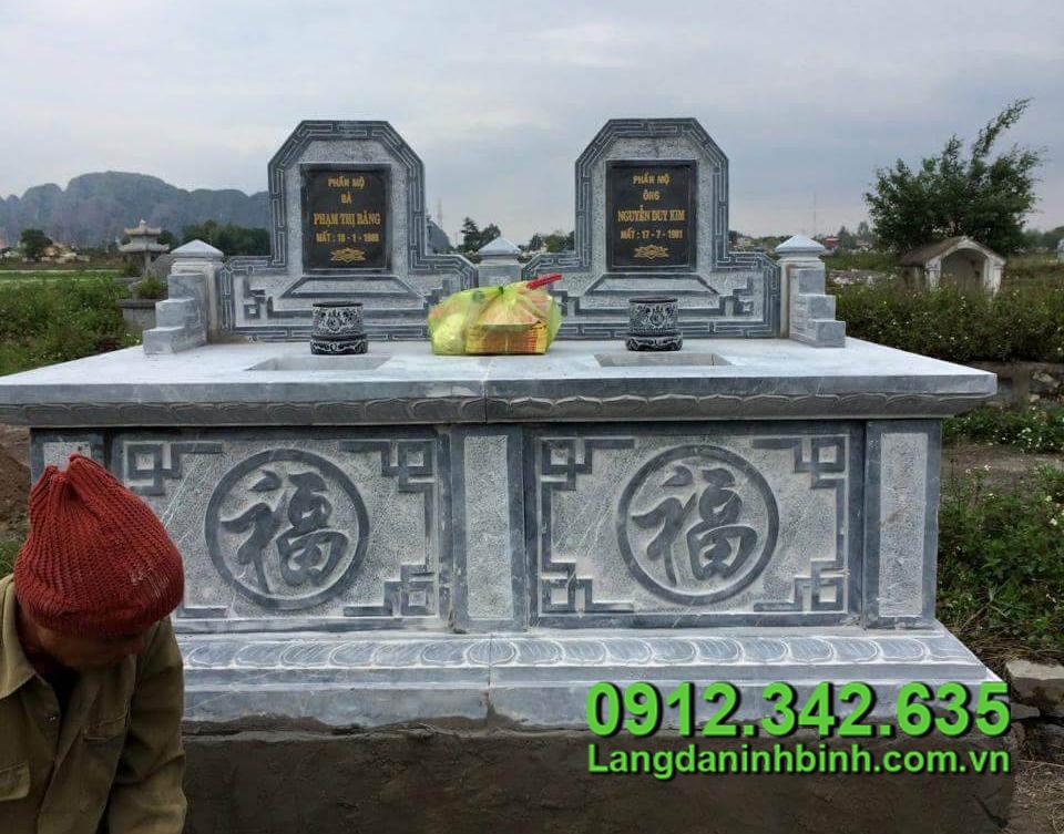 Kích thước mộ đá đôi theo phong thủy
