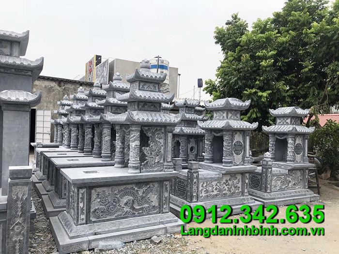 Mẫu xây mộ bằng đá khối Ninh Bình