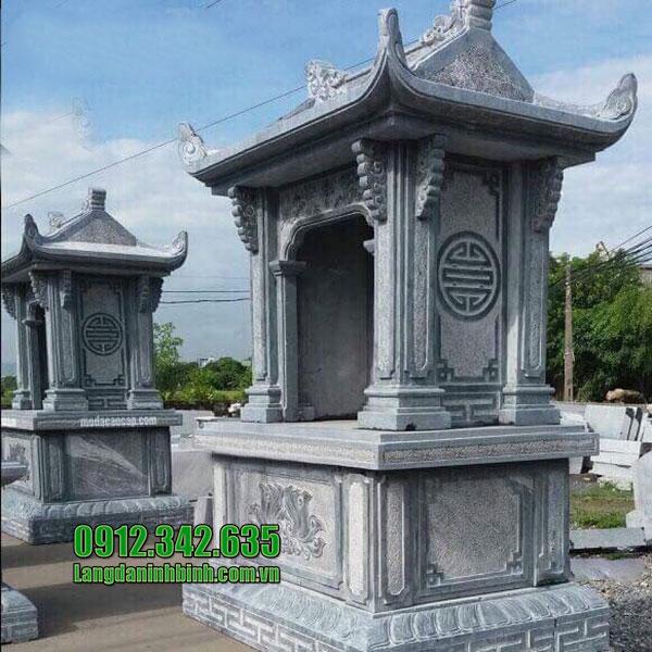 Mẫu miếu thờ quan thần linh, thổ địa bằng đá đẹp