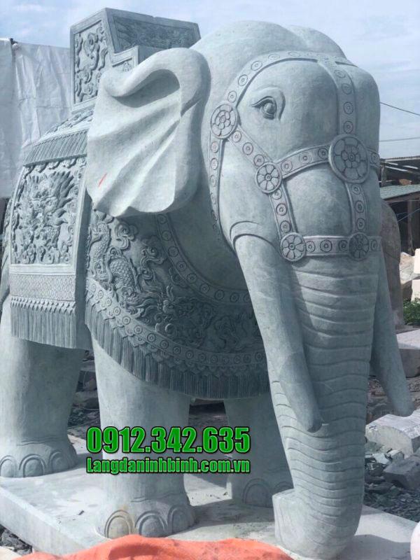 Tượng voi đá đẹp