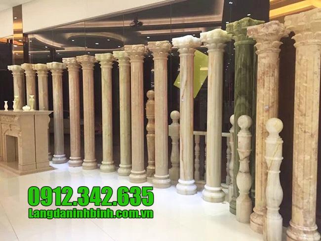 Cột nhà biệt thự bằng đá