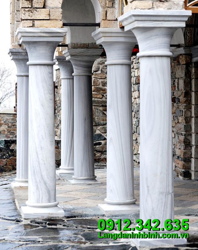 Cột hiên đá trắng, mẫu cột trụ đá trắng