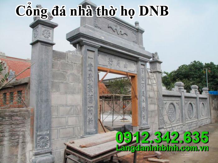 Cổng đá nhà thờ họ DNB12