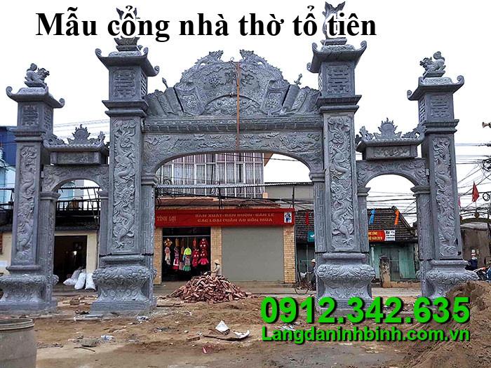 Mẫu cổng nhà thờ tổ tiên
