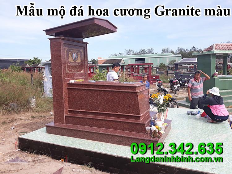 Mẫu mộ đá hoa cương Granite màu đỏ