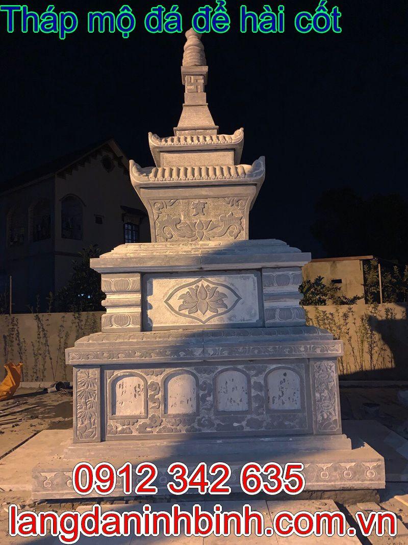 mẫu mộ tháp phật giáo, mộ tháp đá phật giáo, mẫu mộ tháp đá phật giáo đẹp, tháp mộ đá