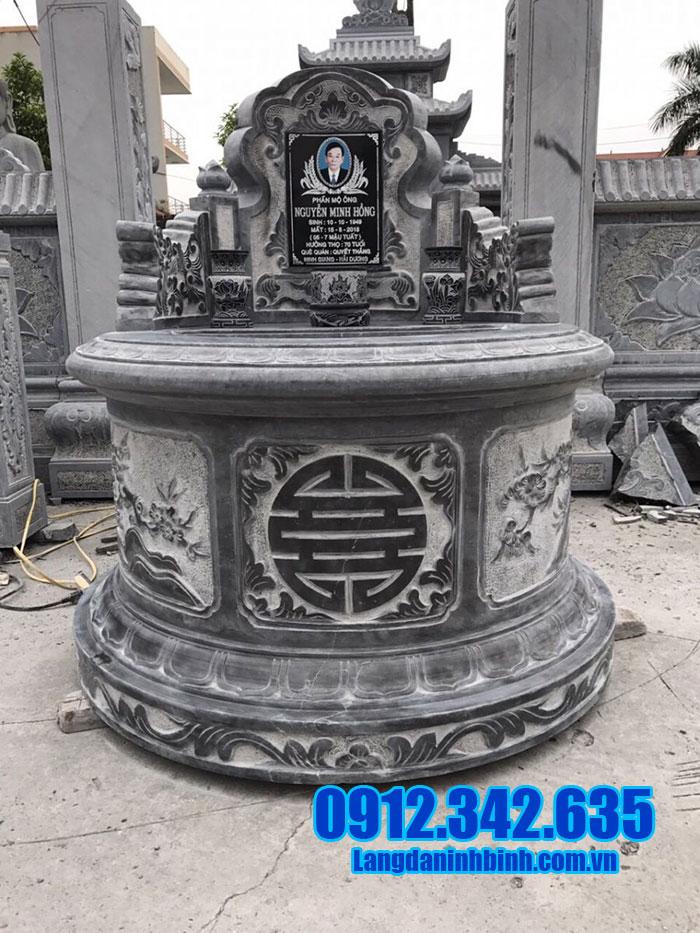 Mẫu mộ đá tròn của cớ sở Đá mỹ nghệ Ninh Bình