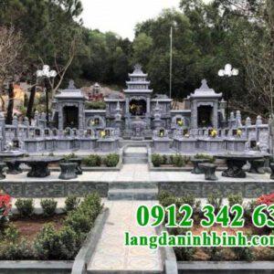 Mẫu khu lăng mộ gia tộc bằng đá đẹp