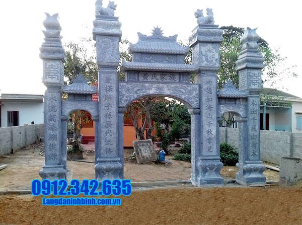 Mẫu cổng nhà thờ tộc bằng đá