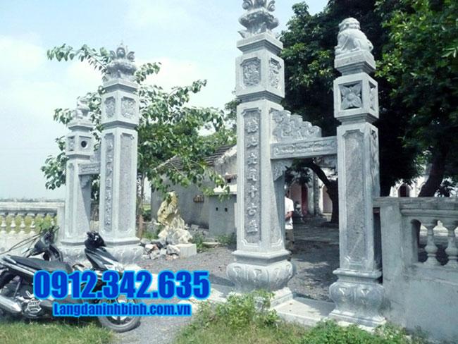 cổng chùa đá xanh tự nhiên đẹp