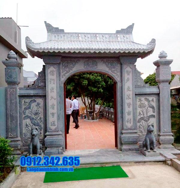 cổng nhà thờ tộc bằng đá đẹp