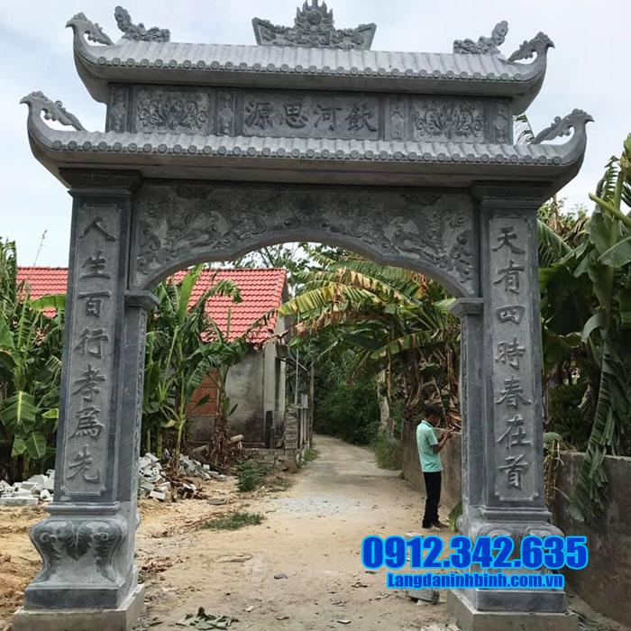 hình ảnh cổng đá nhà thờ họ