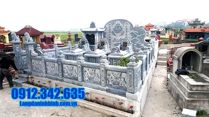 mẫu lăng mộ đá đẹp được sản xuất tại ninh bình