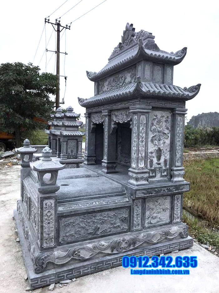 mẫu nhà mồ bằng đá xanh