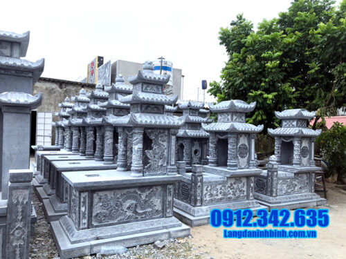 7 mẫu nhà mồ miền bắc bằng đá xanh của cơ sở Đá mỹ nghệ Ninh Bình