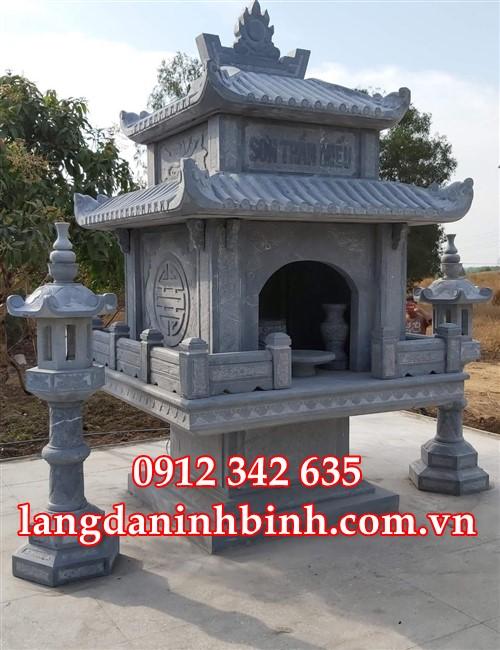 Mẫu bàn thờ ngoài trời - cây hương đá đẹp