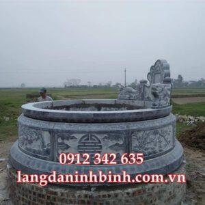 Mẫu mộ hình tròn bằng đá HT35