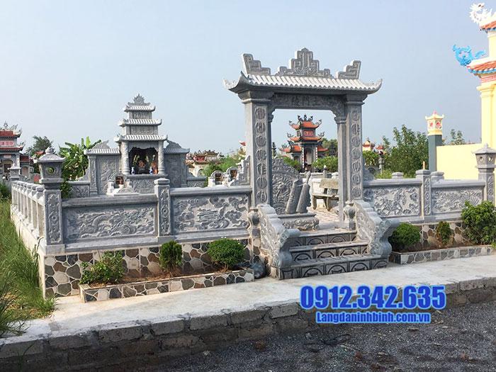 mẫu khu lăng mộ đá đẹp Ninh Bình