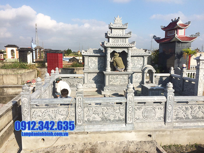 mẫu khu lăng mộ đá đẹp Ninh Vân