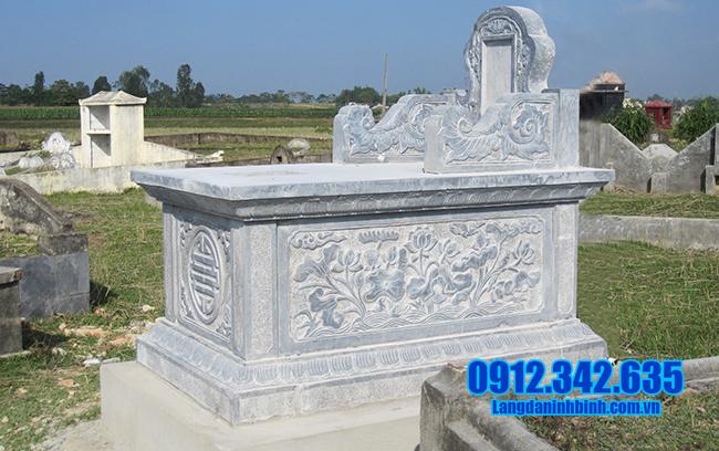 mẫu mộ bành đá xanh đẹp